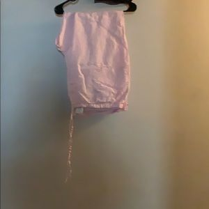 Pants - Light pink linen maternity pants